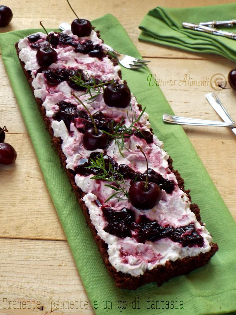 Crostata cheesecake con ciliegie...senza cottura