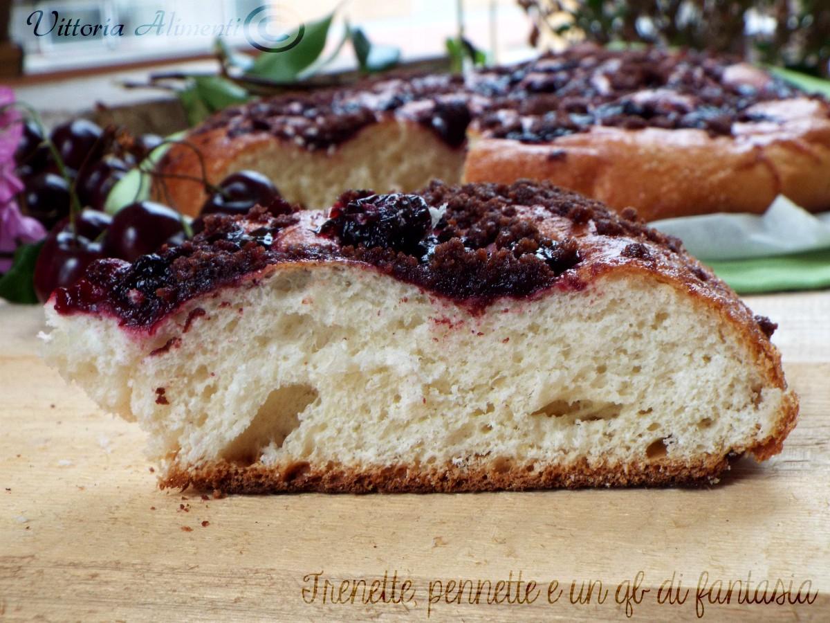 Focaccia biscottata alle ciliegie