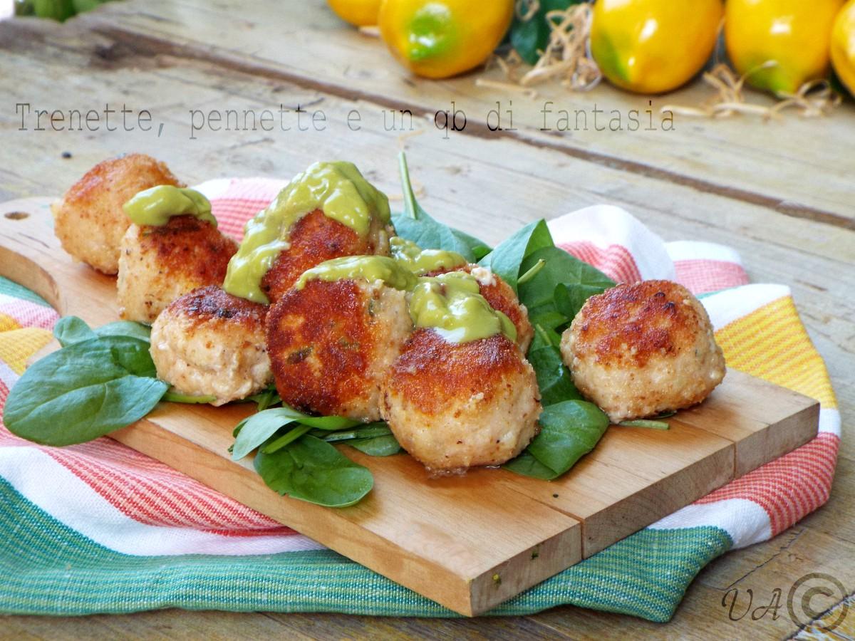 polpettine di pollo al guacamole