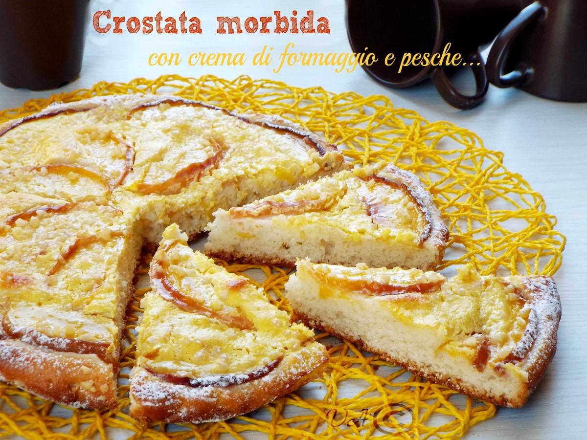 Crostata morbida con crema di formaggio
