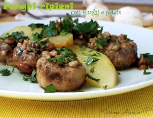Funghi ripieni con funghi e patate