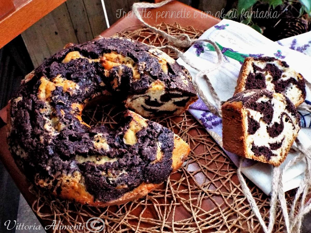 Ciambella marmorizzata al cacao