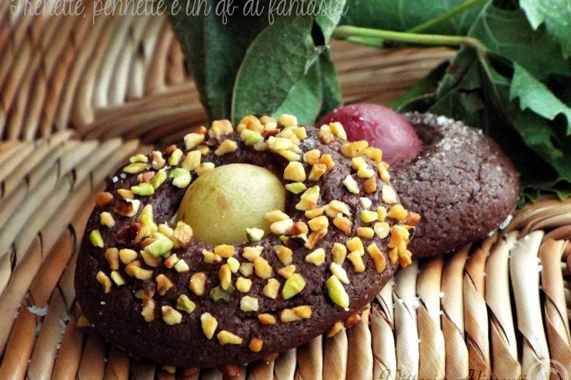 Biscotti morbidi cacao e uva