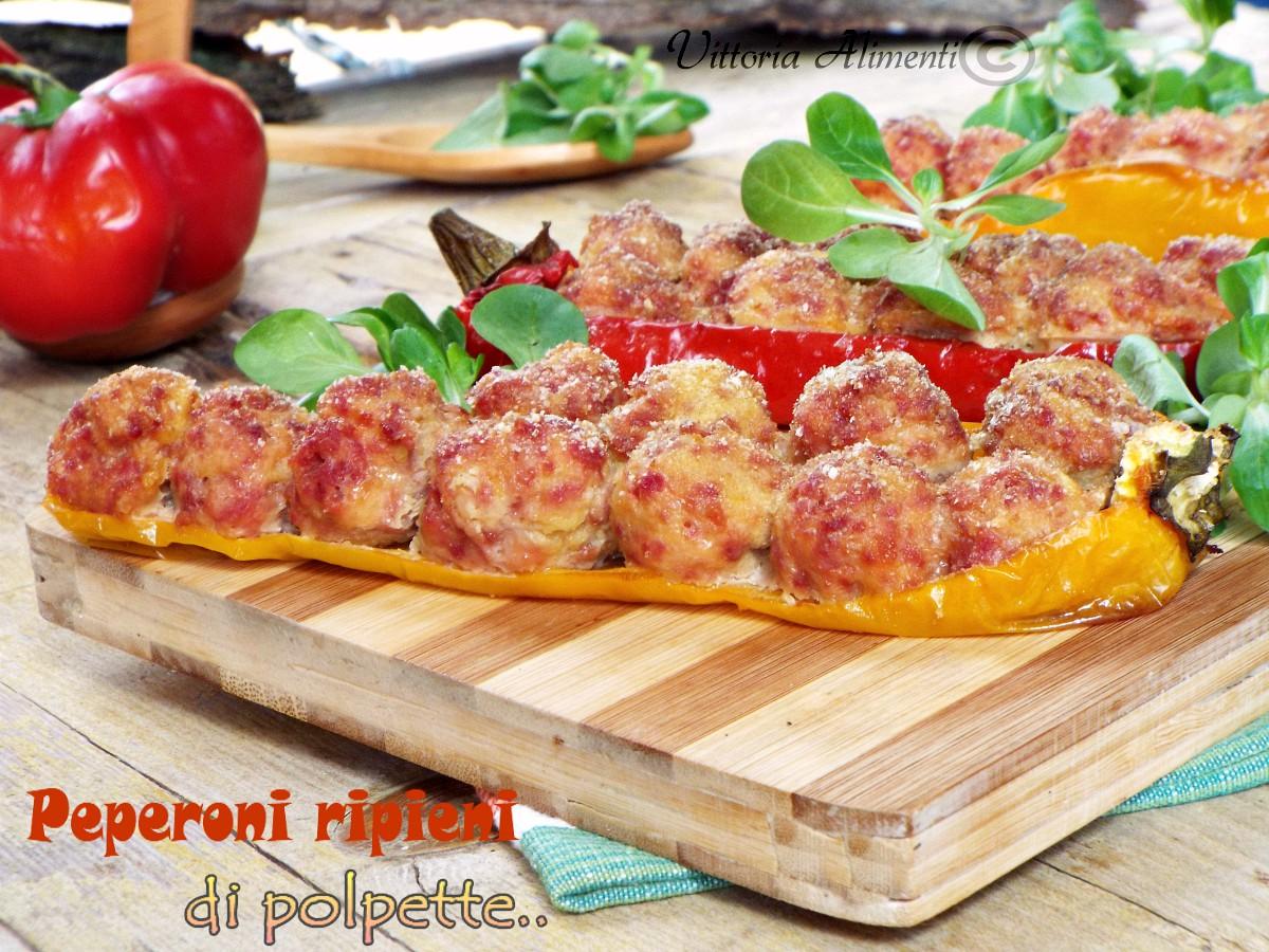 Peperoni ripieni di polpette di patate