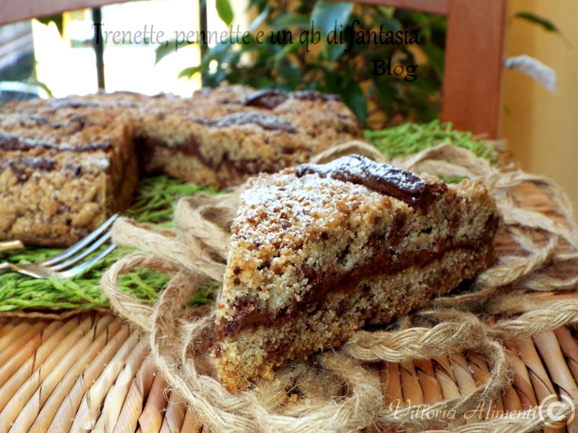 Sbriciolata biscotto con nutella