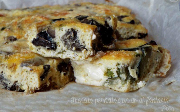 Frittata al forno con funghi e mozzarella