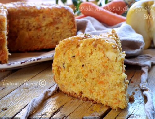 Torta di carote e mela senza burro