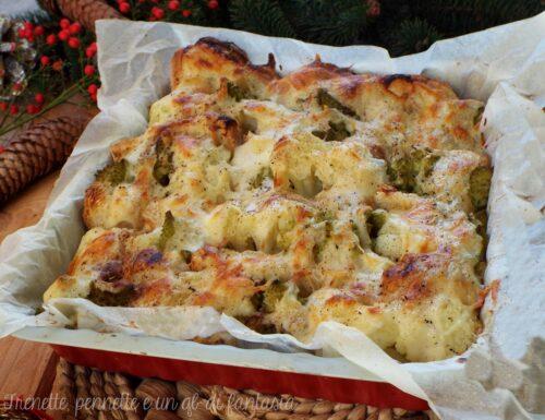 Contorno broccolo, patate e scamorza