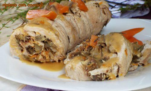 Rollè di pollo ripieno con carciofi