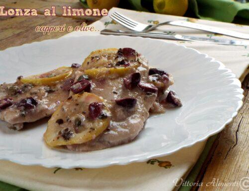 Lonza al limone capperi e olive