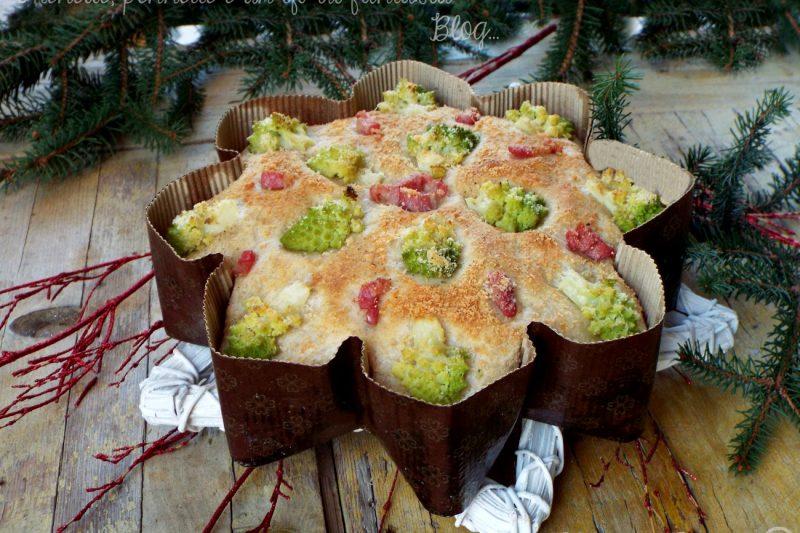 Focaccia Stella broccolo e pancetta