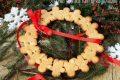 Ghirlanda di biscotti di pan di zenzero