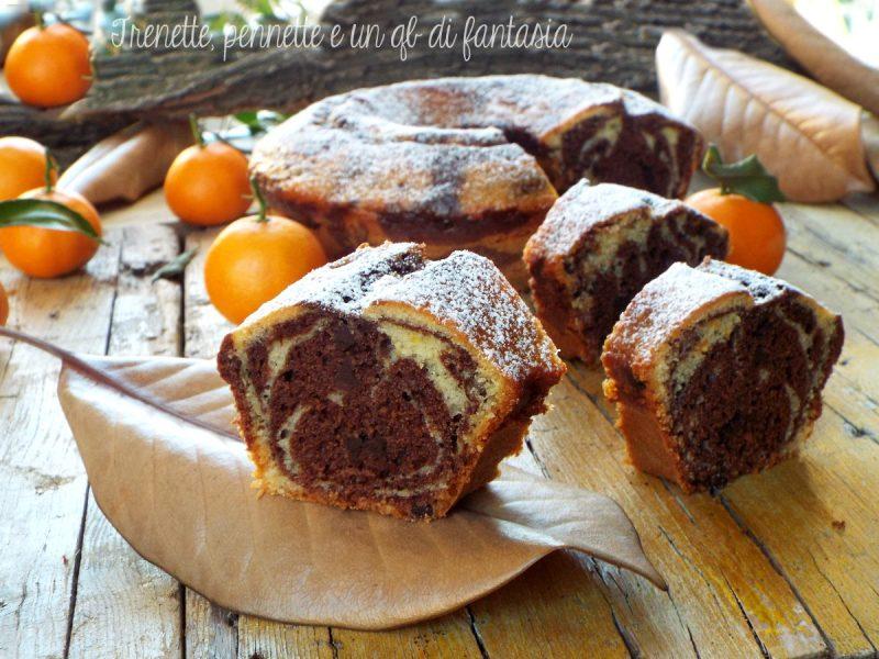 Ciambella frullata con clementine e cacao