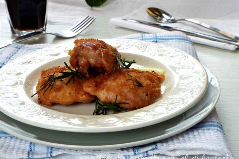 Pollo in crosta di pane sfumato alla birra