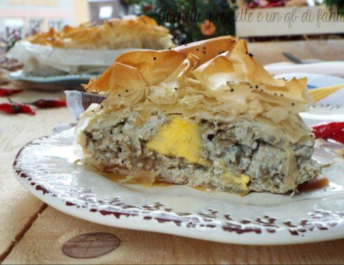 Torta pasta fillo con carciofi e uova