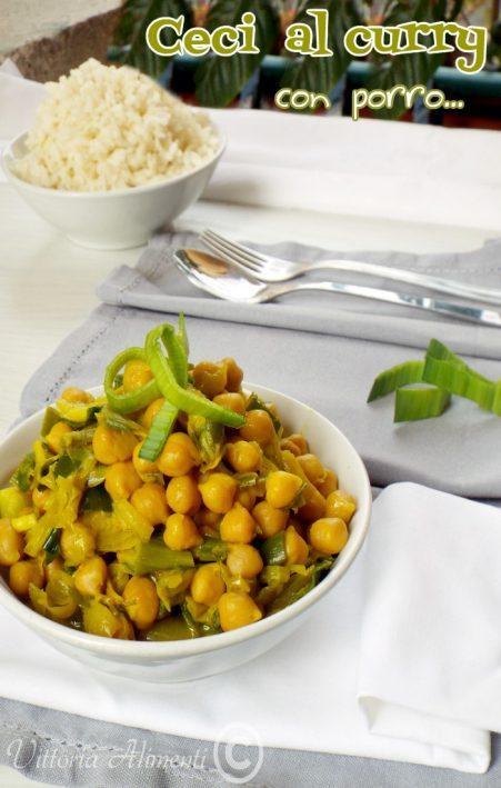 Ceci al curry con porro