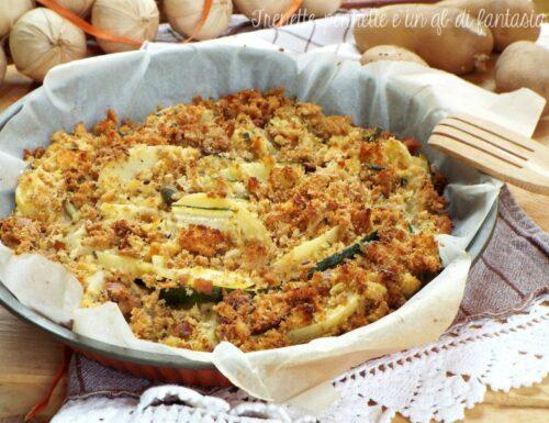 Zucchine e patate gratinate