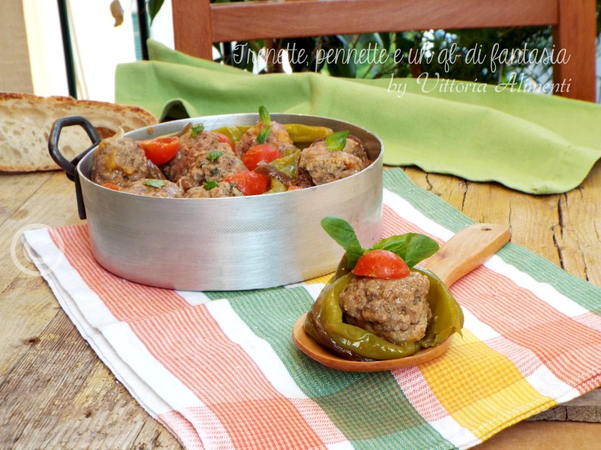 Polpette di carne con peperoncini