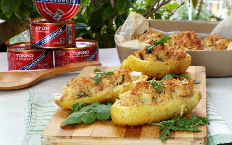 Barchette di patate con tonno e provola