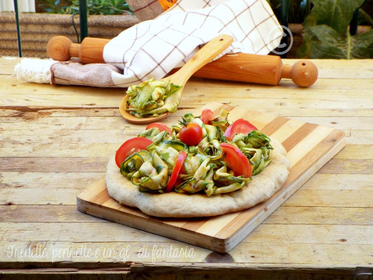 Pizza con zucchine grigliate