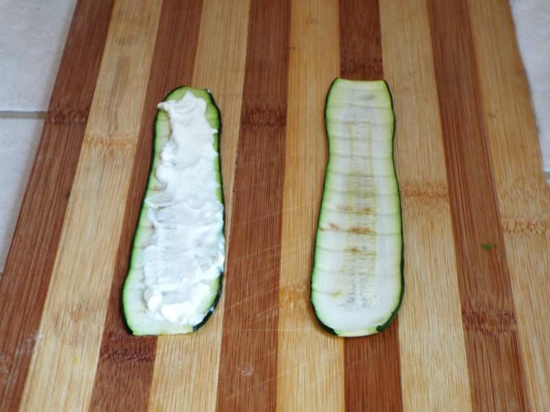 fettine di zucchine e formaggio