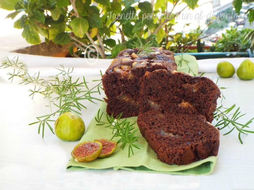 Plumcake cioccolato e fichi freschi