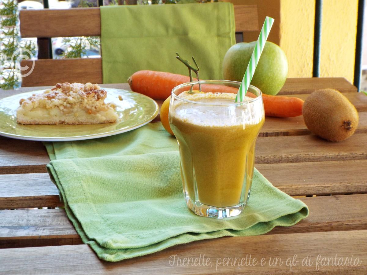 Centrifuga mela verde, carota