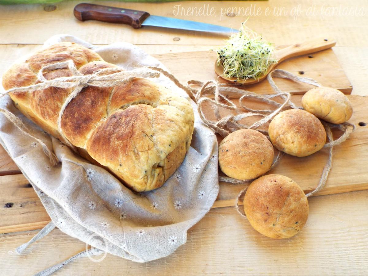 Pan brioche con porro
