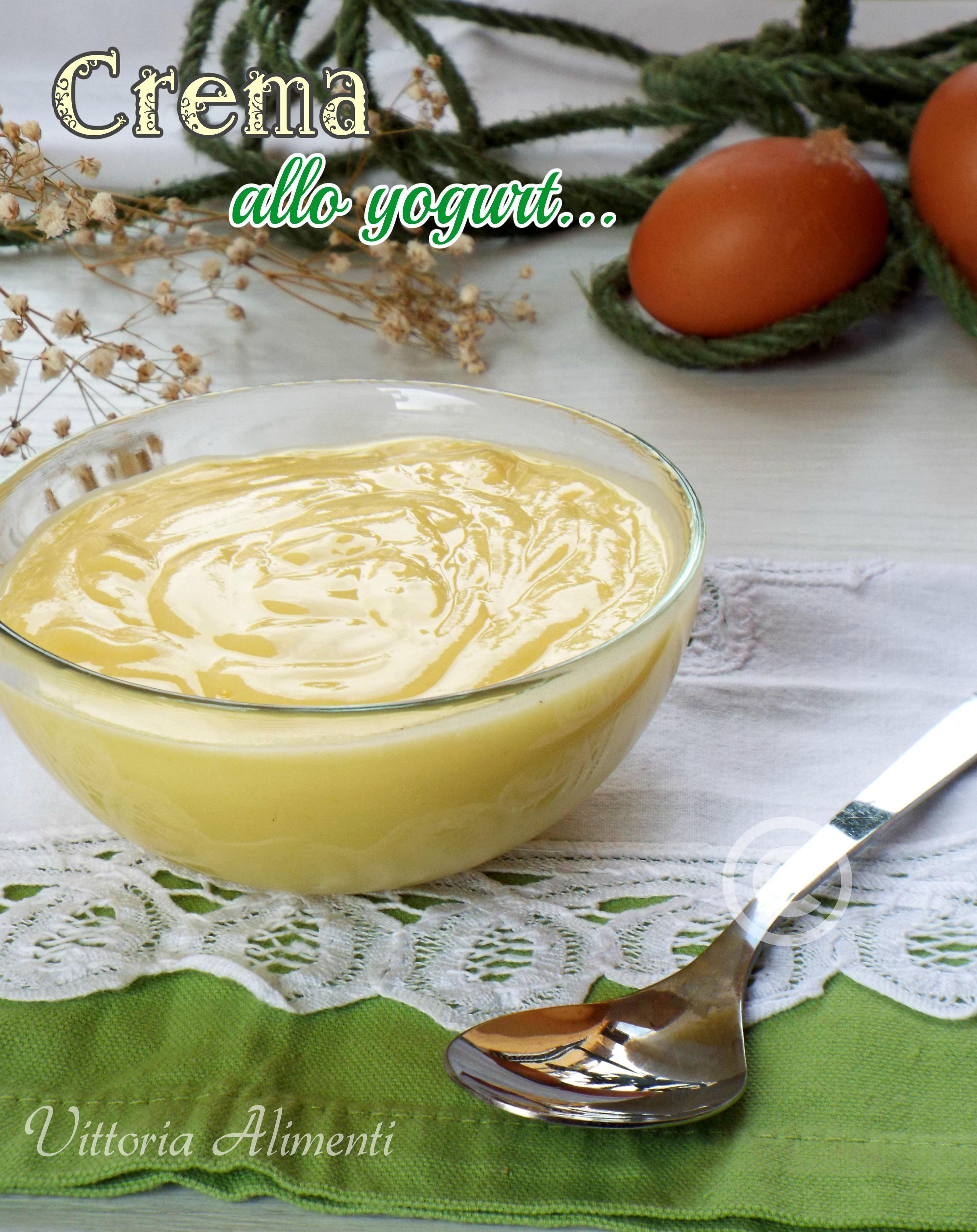 Crema allo yogurt per farcia