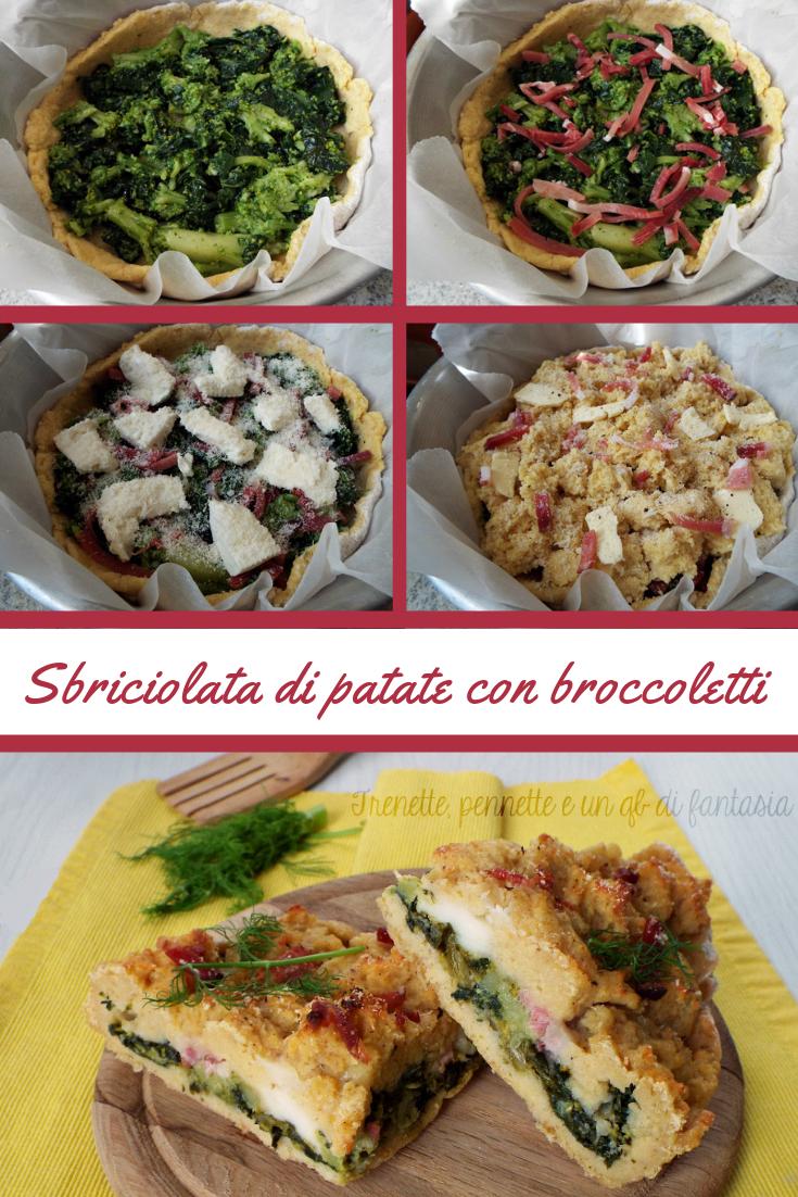 Sbriciolata di patate con broccoletti e spec