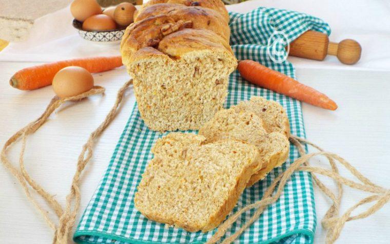 Pan brioche carote e noci