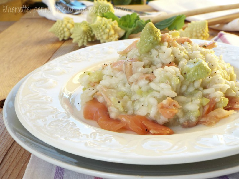 Risotto broccoli e salmone