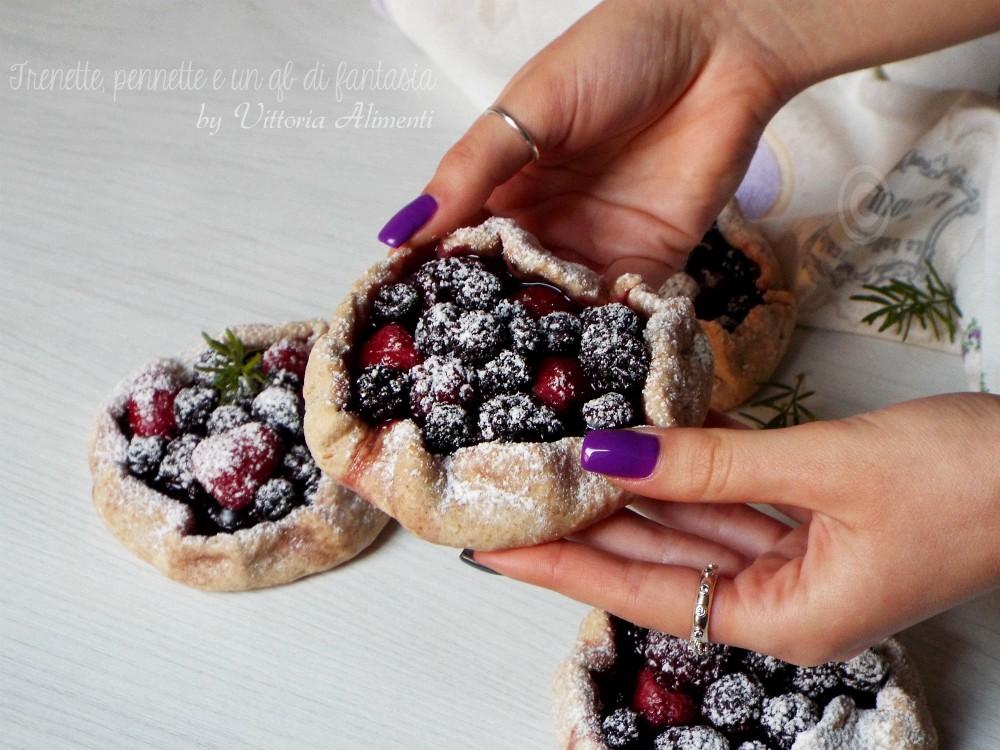 Mini galette ai frutti rossi