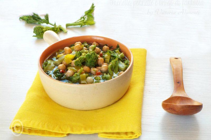 Zuppa di ceci e broccoletti
