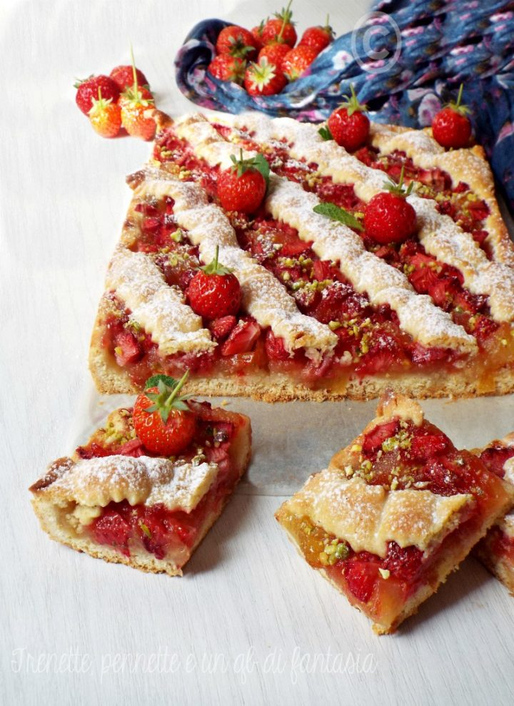Crostata all'olio con fragole