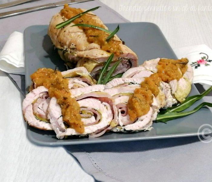 Rotolo di tacchino farcito con zucchine e prosciutto
