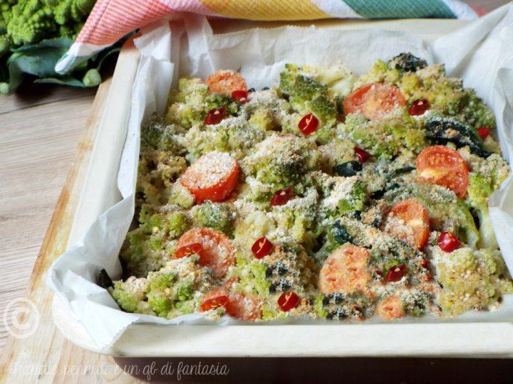 Broccoli gratinatiaglio olio