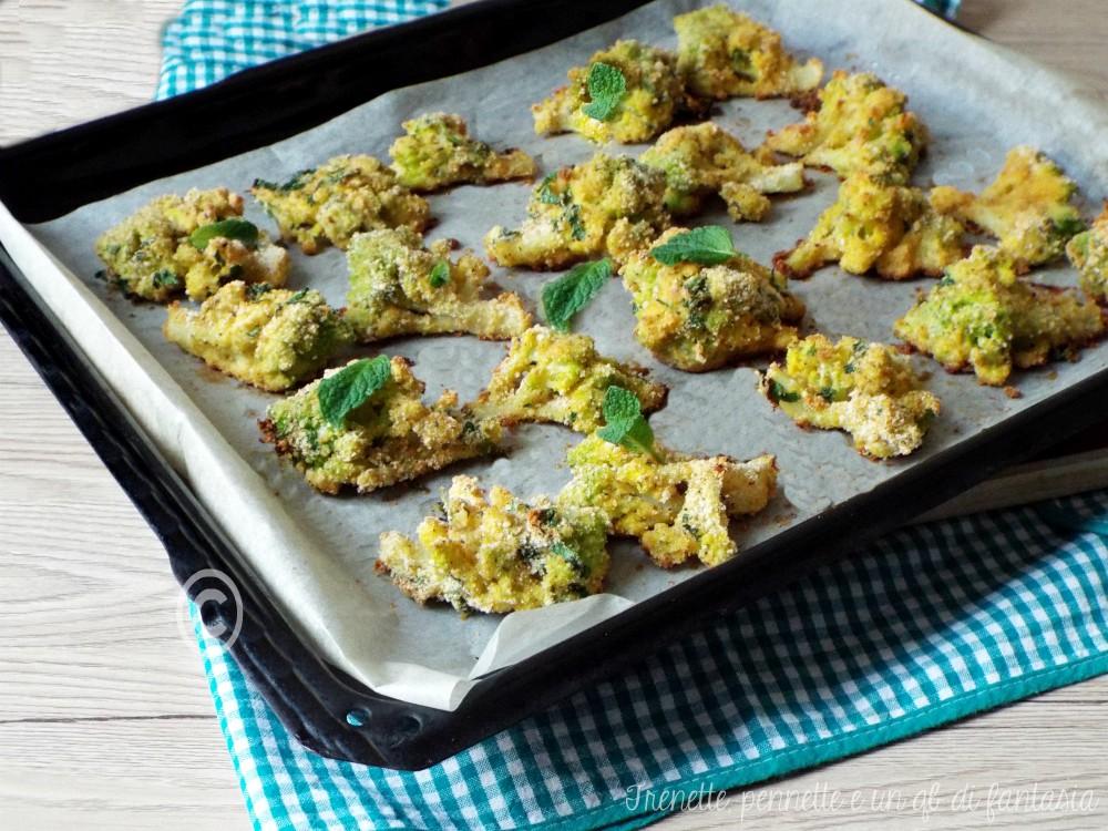 Broccolo panato al forno pecorino e menta