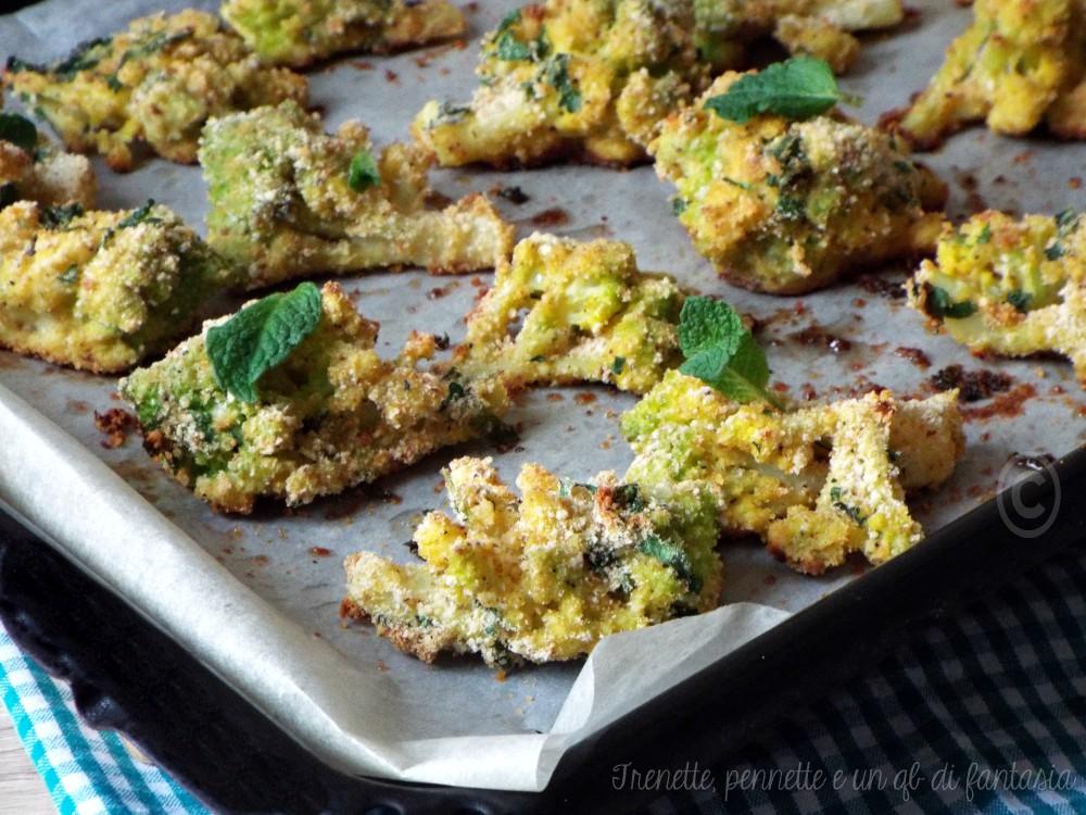 Broccolo panato al forno pecorino
