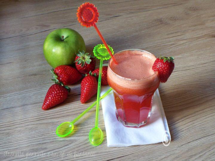 Centrifuga fragole e mela