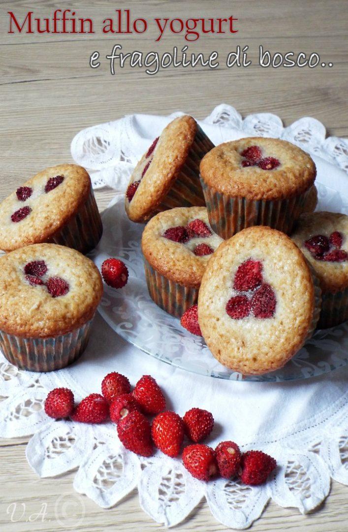 Muffin allo yogurt e fragoline di bosco