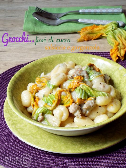 Gnocchi firoi di zucca salsiccia e gorgonzola