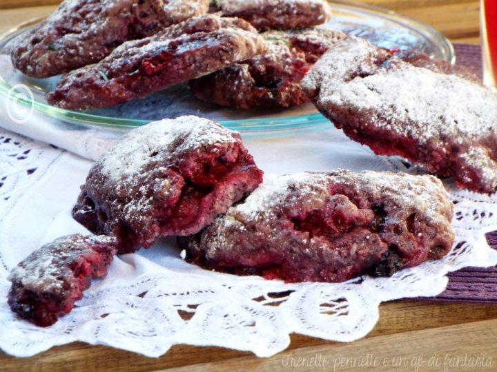 Biscotti rustici ai frutti rossi