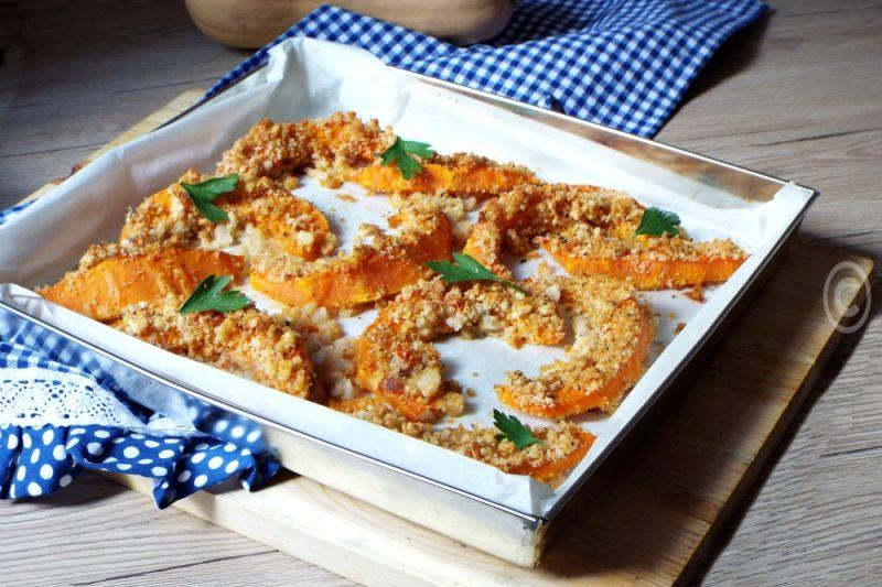 Zucca al forno gratinata al pomodoro