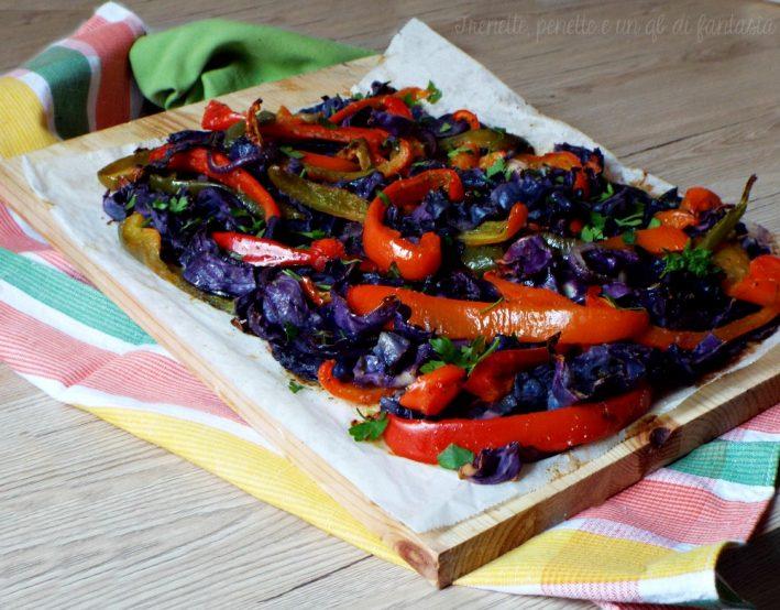 Cavolo viola e peperoni