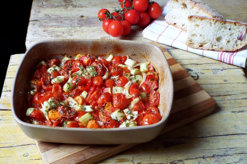 Salsa di pomodorini cotta in forno