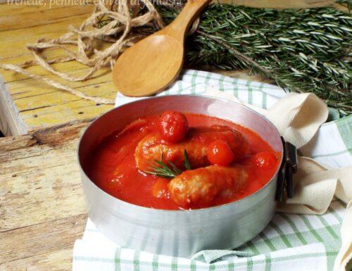 Sugo di salsiccia con ingredienti a crudo