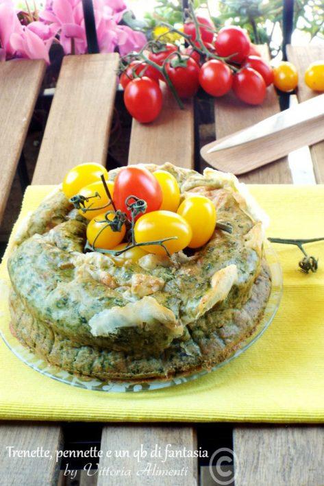 Ciambella salata con spinaci e scamorza