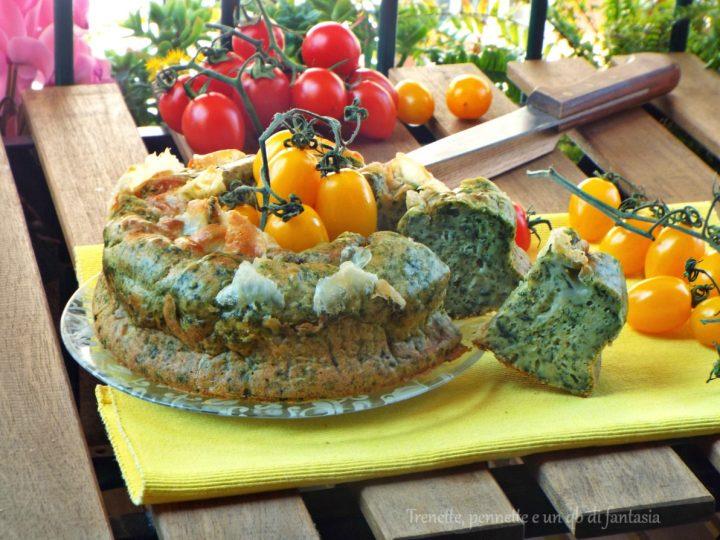 Ciambella salata con spinaci
