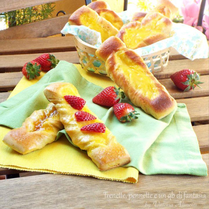 Trecce dolci con crema